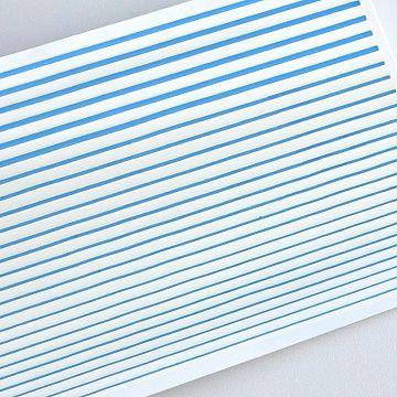 Гибкая лента для дизайна, голубая